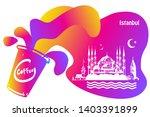 hand drawn istanbul horizontal... | Shutterstock .eps vector #1403391899