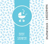 Vector Blue Card With Baby...