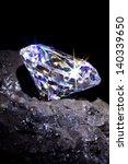 single cut diamond on a piece...   Shutterstock . vector #140339650