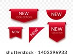new collection tags. vector... | Shutterstock .eps vector #1403396933