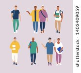 student casual urban young... | Shutterstock .eps vector #1403409059