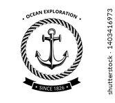 maritime symbols logo   anchor... | Shutterstock . vector #1403416973