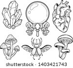 set of the mystical elements... | Shutterstock .eps vector #1403421743