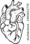 human heart line art  vector... | Shutterstock .eps vector #1403421770