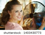 portrait of smiling modern... | Shutterstock . vector #1403430773