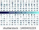 isolated arrow vector icons set.... | Shutterstock .eps vector #1403431223
