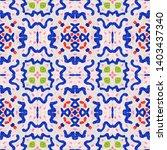 tibetan fabric. abstract ikat... | Shutterstock . vector #1403437340