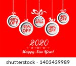 2020 happy new year. sale.... | Shutterstock . vector #1403439989