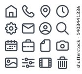 website bold line icons....