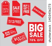 red sale tag design vector... | Shutterstock .eps vector #1403456273