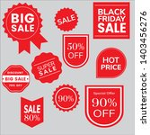 red sale tag design vector... | Shutterstock .eps vector #1403456276