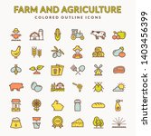 farming and agriculture line... | Shutterstock . vector #1403456399