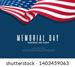 memorial day. remember and... | Shutterstock .eps vector #1403459063