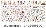 crowd of flat illustrated...   Shutterstock .eps vector #1403459900