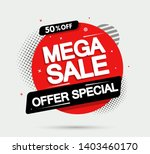 super sale and special offer.... | Shutterstock .eps vector #1403460170