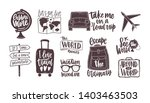 bundle of handwritten... | Shutterstock . vector #1403463503