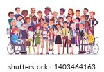 diverse group of people full... | Shutterstock .eps vector #1403464163