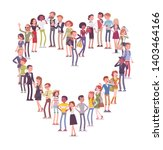 group of people making heart... | Shutterstock .eps vector #1403464166