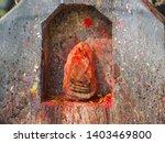 shrine covered in vermillion to ... | Shutterstock . vector #1403469800