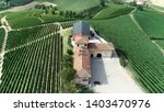 aerial view of winemaker farm | Shutterstock . vector #1403470976