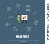 marketing trendy ui flat...