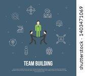 team building trendy ui flat...