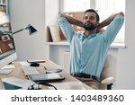 laziness. young modern... | Shutterstock . vector #1403489360