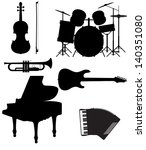 set icons silhouettes of... | Shutterstock .eps vector #140351080