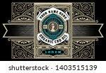 hemp oil label. vintage style.... | Shutterstock .eps vector #1403515139