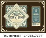 vintage gin label template.... | Shutterstock .eps vector #1403517179
