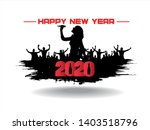 new year 2020. clouds from the...   Shutterstock .eps vector #1403518796