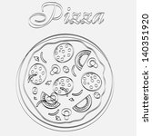 pizza menu template vector... | Shutterstock .eps vector #140351920