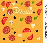 pizza menu template vector... | Shutterstock .eps vector #140351923
