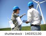 engineers looking at wind... | Shutterstock . vector #140352130