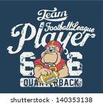 bulldog football player  ...   Shutterstock .eps vector #140353138
