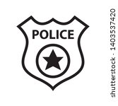 police badge icon in trendy... | Shutterstock .eps vector #1403537420