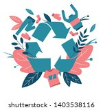 recycling clothes. zero waste... | Shutterstock .eps vector #1403538116