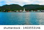 caribbean village on a quiet... | Shutterstock . vector #1403553146