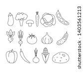 vector set of vegetables icons. ...   Shutterstock .eps vector #1403561213