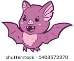 cute vampire bat cartoon vector ... | Shutterstock .eps vector #1403572370