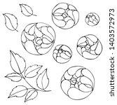 set flowers   pions  botanical...   Shutterstock .eps vector #1403572973