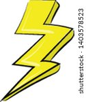 painting of the lightning with... | Shutterstock .eps vector #1403578523