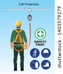 fall protection  construction... | Shutterstock .eps vector #1403579279