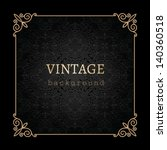vintage gold background  vector ... | Shutterstock .eps vector #140360518
