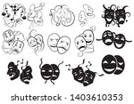 tragedy and comedy theater... | Shutterstock .eps vector #1403610353