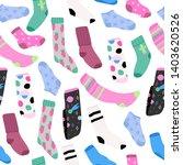various bright socks with...   Shutterstock .eps vector #1403620526