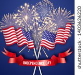 usa independence day. banner... | Shutterstock .eps vector #1403626220