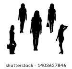 set of black silhouette of... | Shutterstock .eps vector #1403627846