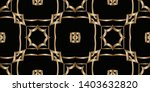 geometric gold patterns on a... | Shutterstock . vector #1403632820