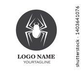 spider logo vector illustration ... | Shutterstock .eps vector #1403641076